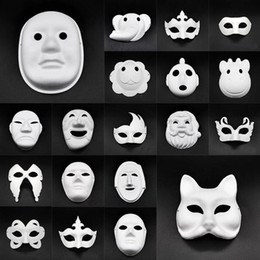 Adereços rosto do partido de diy on-line-Cosplay Máscaras DIY Halloween Papel Party Masquerade Cartoon Maske Carnaval Ball Face Mulheres Carnaval Masque Prop DHF