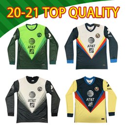 gardien de but de football maillot à manches longues Promotion Jersey de football à manches longues à manches longues 2021 America Club 20/21 F.Vinas Henry G.Ochoa J.Menez Rodriguez Giovani Matheus Home Away T-shirt de football adulte