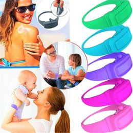 Gel fascia online-Silicone Gel Wrist Band adulti Liquid Kids Distributore Wristband mano Gel bagagli Wristband Dispenser con la bottiglia squeeze w-00310