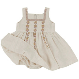 vestiti di stile vintage delle bambine Sconti Enkelibb Little Kid Girl Summer Dress Dress Bambina Vintage Dress APO Europeo American Style Brand Brand Neonata Vestiti Bella C1226
