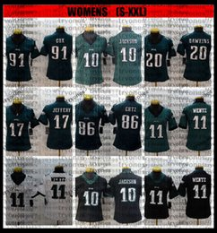 Jérsei do jeffery do alshon on-line-Womens 10 desan Jackson Zach Ertz Carson Wentz Brian Dawkins Alshon Jeffery Fletcher Cox Football Jersey Senhoras Bordado Meninas BB6
