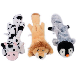 animal de pelúcia com raccoon Desconto Simulação animal Pele Dog Toys 45cm Couro Pet Sounding Plush Toys Raccoon Esquilo Voz Shell Household Pet Dog produtos Toy