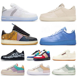 Zapatillas de baloncesto beige online-zapatillas de skate force 1 Type n354 Cactus Jack airforce one white off MCA af1 forces MOMA Skeleton Shadow hombres mujeres correr zapatos zapatillas de deporte