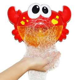 2021 bañera baño bebé New Bubble Crabs Baby Bath Toy Funny Bath Bubble Maker Pool Swimming Bathtub Soap Machine Toys for Children Gift