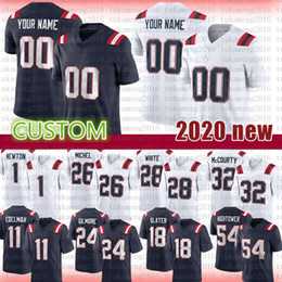 Randy weiße trikots online-Custom Football Jersey Stephon Gilmore Chase Winovich Stephon Gilmore Stephon Gilmore Sony Michel Tedy Randy Moss James White Rex Burkhead