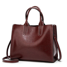 borse in pelle spagnola Sconti Leather Handbags for Women Bag 2021 High Quality Casual Female Bags Trunk Tote Spanish Brand Shoulder Bag Ladies Bolsos