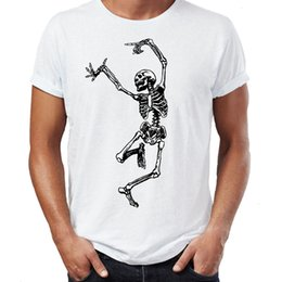 t-shirt danseur Promotion T-shirt Homme Nouveau Dessin animé Danse Squelette Dancer Death Dancer Zombie Corps Anatomie Halloween T-shirt Idées Sports Sweat à capuche Sweat à capuche