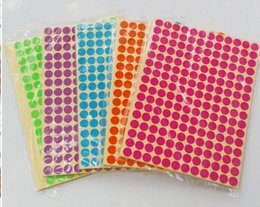 500 Black 6mm colour code dots round sticky id stickers 0.6cm