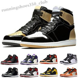 Sapatos masculinos spiderman on-line-NIKE air Jordan 1 RETRO 2020 Top Og Men 1 1s Sapatos Obsidian Sem Preaterless UNC Top 3 Spiderman não para Revenda Sombra Phantom Fareless Sneakers TQ06