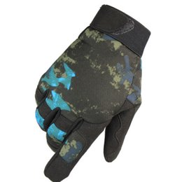 guanti militari Sconti Multicam Tactical Guanti Antiskid Army Military Bicycle Airsoft Motocicloso Spara Paintball Lavoro Gear Camo Full Ding Uomo Donna 201019