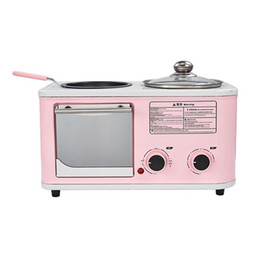 Elektrische heiße schweine online-3 in 1 Toaster Toaster Sandwich Electric Back Pan Electric Hot Pot Dampfmaschine Multifunktionale Frühstücksmaschine
