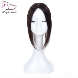 2021 donne toupee 2.5X5 Natural Black Remy Human Hair Topper For Women Free Part Clip in Toupee Real Remy Human Hair Toupee sconti donne toupee
