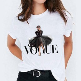 2021 maglia maglia Donne Elegante rivista Cartoon Carino Signore Signore Vogue Top Graphic Womens Tees femminile Camisas Lady T-shirt Harajuku T Shirt T-shirt1