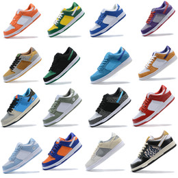 Chaussures de course vert lime en Ligne-Nike Dunk SB Running shoes Low Pro Iso Infrared ours orange Opti Bleu Vert Jaune Fury Plum Laser orange femmes entraîneur sport mode en plein air