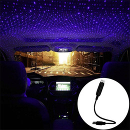 2021 toiture en étoile USB Star Sky Projector Ceiling Bleu Violet Lumières Atmosphere Adjustable Car lampe Guirlande lumineuse pour toit Accueil Party Decor USB Led Night Lights toiture en étoile pas cher