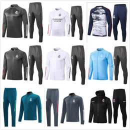2021 costumes coupe-vent Real Madrid 20 21 Hazard TrackSuit Jacket Kit 2020 Modric Benzema Bale Full Zip Football Football Football Football Footballsuits Windbreaker Sweat à capuche