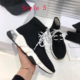 Raça c on-line-Moda Mulheres Sock Shoes Trible Speed ​​Trainer Respirável Sneakers Speed ​​Trainer Sock Race Corredores Preto Sapatos Homens e Mulheres Sapatilhas