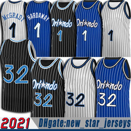 Trikot uniform basketball online-32 SHAQ Jersey Retro Tracy 1 McGrady Jerseys Anfernee Penny Hardaway Jersey Jonathan 1 Isaac Basketball Uniform