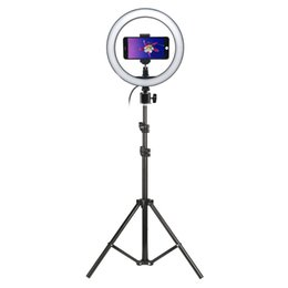 Студийная видеокамера онлайн-Фото LED селфи Ring Light 10inch Photo Studio Camera Light С штатив Стенд для Tik Tok VK Youtube видео в реальном времени Makeup C1002