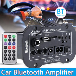 Home stereo-verstärker online-12V 24V 220V Bluetooth 5.0 High Power Digital Stereo Board AMP Amplificador Audio Heimkino Amp Mic SD USB DVD1