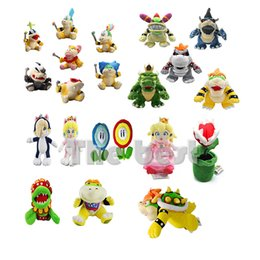 Peluche rosalina online-Nuovo arrivo fiore Peluche Peluche Pesca Peach Petey Piranha Bowser 100% Koopa Kids Cottone Regalo farcito Baby Doll Toy Holiday Holiday Halloween Rosalina