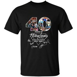 nouvelles t shirts Promotion Vinatee 40 ans de Huey Lewis And The News 1979 2019 designers hoodie swea t-shirt sweat-shirt
