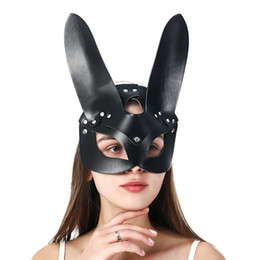 Mascaras para fiesta de sexo online-Uyee Sex Sexy Mask Sexy Catwoman Half Mask Erotic Party Cosplay Slave Props Mask Adult Play Masks 201026