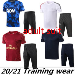 3 4 chándal  Rebajas 2020 ASEN Man Unitl Madrid Argentina Socúcalo Survetement Mangas cortas 3/4 Pantalones Tacksuit Training Football Kit Kit Chandal Set