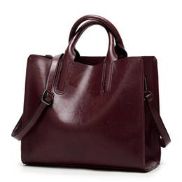 borse in pelle spagnola Sconti Leather Handbag Big Women Bag High Quality Casual Female Bag Trunk Tote Spanish Brand Shoulder Ladies Large