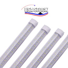 2021 luci di figura 2FT 3FT 4FET a V-figura a V 8ft LED Tube Lights T8 Integrated Cooler Design Design Shop LED Lighting Apparecchio T8 Tubo a LED con accessori 144W