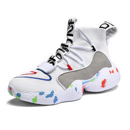 chaussettes douces Promotion Chaussures Hommes Fashion Sport Haut-Top Chaussettes Chaussures Femmes Sneakers Lovers Soft Casual Chaussures Respirantes Commandes Flats Big Taille35-47