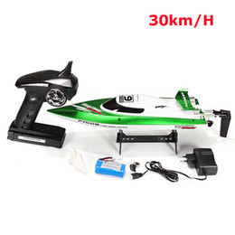 Bürstenboot online-FEILUN FT009 4Channel 2.4GHz Fernbedienung gebürstet Motor Speedboat RC Racing Boat High Speed ​​30km / h Wasserkühlsystem RTR 201204