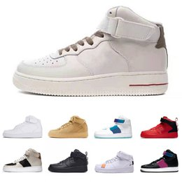 Solo scarpe sportive online-air Force 1 af1 Future Forward Donna Uomo Scarpe da corsa Laser Fucsia UNDEFEATED Metalic God Sliver Bullet South Beach uomo Sneakers sportive 36-45