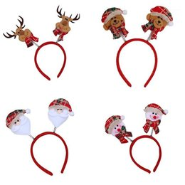 Vecchi accessori per capelli online-Hot Christmas Cartoon Old Man Uomo Snowman Elk Bear Hair Bands per le donne Cute Girls Bambini Accessori per capelli Gift1