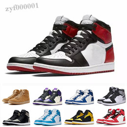 sapatos de classe alta Desconto NIKE air Jordan 1 RETRO Top New 1 Travis Scotts Jumpman 1s Crimson Tint Homens Mulheres Og High Shoes Fearless Fearless Vôo de primeira classe Trainers Green SX06