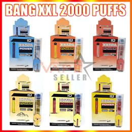 Vapes desechables online-Bang XXL Dispositivo de cigarrillo VAPE DE VAPE E XXL 800mAh Batería 6ml Cartucho PODS 2000 Puffs XXTRA Kit de vapor