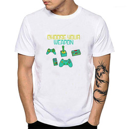 Guitarra on-line-Escolha o seu algodão Camiseta PlayStation Game Controlador Camisa Rock Roll Bass Guitar Tees Baker Pastelaria Chef YH1291