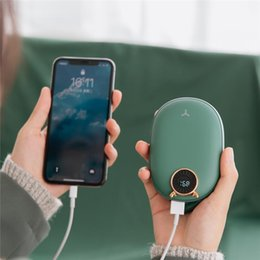 Portable Pocket Hand Warmer Heat Therapy for Arthritic Sufferers Pain Relief Double-side Heater Winter Best Gifts AUGOLA Reusable Hand Warmers Rechargeable Portable USB Power Bank 10000mAh