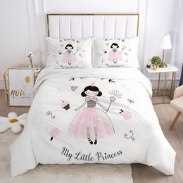 Mädchen prinzessin bettbezüge online-Mädchen-Karikatur-Bettwäsche-Set für Baby-Kind-Kind-Krippe Bettbezug-Set Pillowcase Decke Bettbezug Prinzessin Bettwäsche-Sets