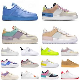 2021 instrutores de basquetebol de moda force 1 shadow force af1 off white 2020 Top Quality Men Women Running Sport Shoes Classic Shadow White Barely Rose Pale Ivory Metallic Basketball Skateboarding Shoes instrutores de basquetebol de moda barato