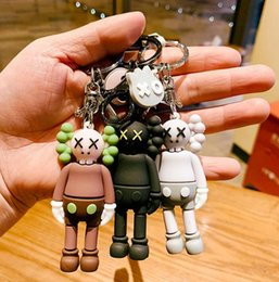 2020 portachiavi di rosa KAWS Doll Designer catena portachiavi Keychain nuovo modo di Sesame Street Key Accessori Action Figures Charms giocattoli sacchetto Portachiavi Car Holder portachiavi di rosa economici
