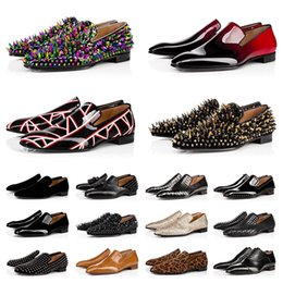 2021 pattini di vestito taglio basso uomini Designer Mens Genuine Leather Shoes Luxury Shoes Bottoms Bella Low Tagli Spikes Spikes uomo Dress Shoe Party Party Uomo Scarpe da ginnastica Scarpe da ginnastica