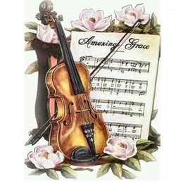 "2021 3d diamond kreuzstich 5d DIY Daimond Malerei Cross-Stitch ""Violine"" 3D Diamant Malerei Volle Runde Rhinestones Diamant Stickerei Home Decor1 günstig 3d diamond kreuzstich"