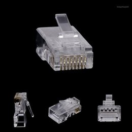 2021 gota rj45 10pcs RJ45 8-PIN Conector CAT6 Cabo de rede Modular Ethernet Crystal Plugs Drop Ship1