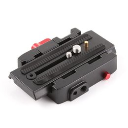 Treppiede manfrotto online-Quick Release Plate for Manfrotto 577 501 500AH 701HDV Aluminum Camera Tripod Plate Quick Release Clamp