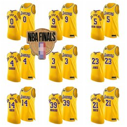 Camisas de basquete preto on-line-2020 Finals vinculados Homens LeBron James 23 Anthony Los Angeles