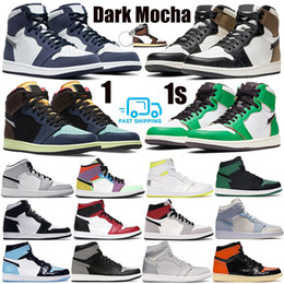 Zapatos de elefante online-Zapatillas de baloncesto 1 1 OG para hombre 1s NRG igloo banned camaleón shadow white black toe elephant print Chicago royal Track Red Sneakers 40-47