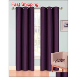 Ojales cortinas opacas online-Blackout Cortinas Sala oscureciendo Thermal Aisled Grommet Drapes Jllygw LajiaYard
