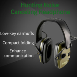 suppression du bruit extérieur Promotion Prise de vue électronique Coquilles Casque Outdoor Hunting Pliable Noise Cancelling son casque de protection oreille tactique d'audition
