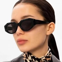 2021 occhiali da sole gatto nero occhiali da sole europa 2020 nuovissimo occhiali da sole gatto retrò occhiali da sole da donna Europa e America Polygon Piccoli occhiali da sole Black Frame Driving Eyewear UV4001